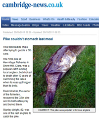 Cambridge News - Pike couldn't stomach last meal